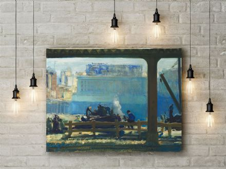 George Bellows: Blue Morning. Fine Art Canvas.